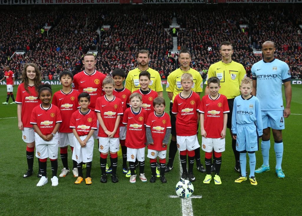 <> at Old Trafford on April 12, 2015 in Manchester, England.